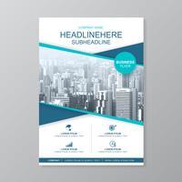 Schablone der Geschäftsabdeckung a4 für einen Bericht und eine Broschüre entwerfen, Flieger, Fahne, Broschürendekoration für den Druck und Darstellung vector Illustration