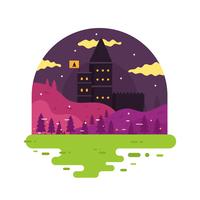 Trollkarlens slott vektor
