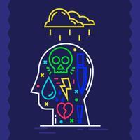 Psychische Gesundheit vektor