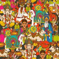 Indien nahtlose Muster vektor