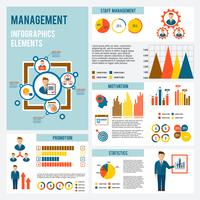 förvaltning infografiska uppsättning