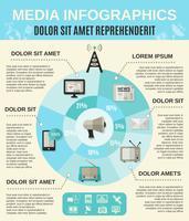 Medien-Infografiken-Set vektor