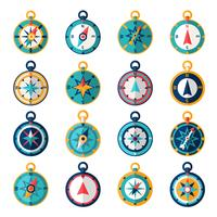 Kompass-Symbol flach