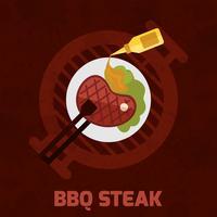 BBQ-Steak-Plakat