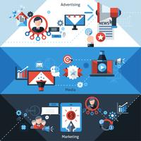 Reklam marknadsföring banners vektor