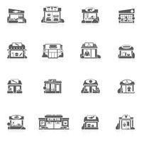 Store Byggnader Sätta vektor