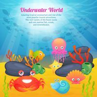 Söt djur undervattensvärldserie