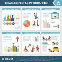 Inaktiverad Infographics Set vektor