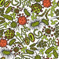 Bakterier och virus sömlösa vektor