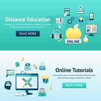 online utbildning design koncept vektor