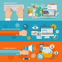 seo internet marknadsföring banner vektor
