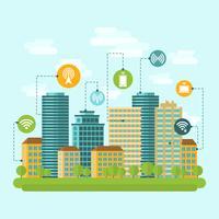 Stadens trådlösa internetanslutning vektor
