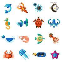 havs vilda djur vektor