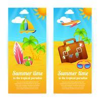 sommar semester banners vektor