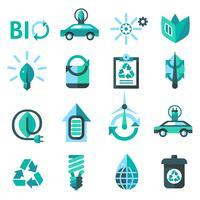 Ekologi och återvinning ikoner vektor