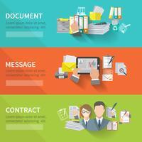 dokumentbanneruppsättning vektor