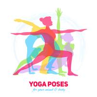 yoga fitness koncept vektor