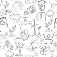 doodle ekologi sömlös