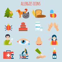Allergie-Icon-Set