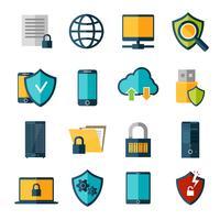 Datenschutz-Icons Set
