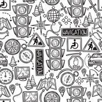 Nahtloses Muster der Navigation vektor