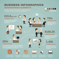 Kontorsarbete infographics presentationsaffisch