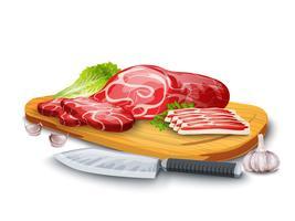 Fleisch an Bord vektor
