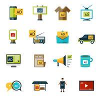 Werbe-Icons Set vektor