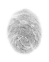 Fingerabdruck isolierte Abbildung vektor