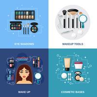 makeup platt uppsättning vektor