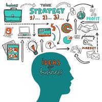 Business-Skizze-Illustration