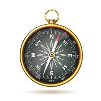 Kompass realistisk isolerad vektor