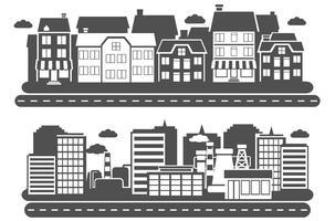 landskap stad banner vektor