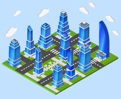 Branchenplanung der Bürostadt vektor