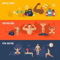 Bodybuilding-Banner-Set