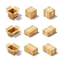 Karton-Set vektor