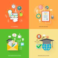 Online-Bildungs-Icons
