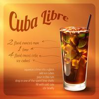 Cuba Libre Cocktail Rezept vektor