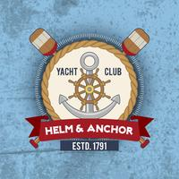 nautiska emblem vintage vektor