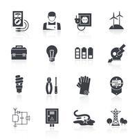 Strom-Symbol schwarz