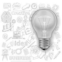 Kreativer Hintergrund mit Glühlampe