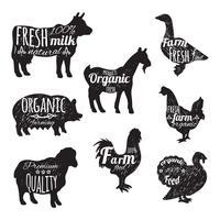 Nutztiere eingestellt vektor
