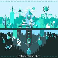 Ökologie und Recycling-Zusammensetzung vektor