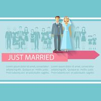 Bröllopsgästeraffisch vektor