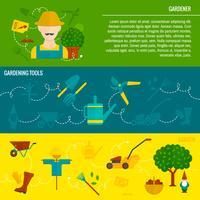 Vegetabilisk trädgård horisontella banderoller platt