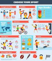 Sport Infographics Set vektor