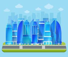 Kontors industriell stadsbild