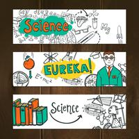 Wissenschaft Banner Set vektor