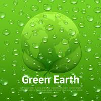 Wasser lässt Eco Poster fallen vektor