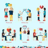 Förhållandekoncept Set